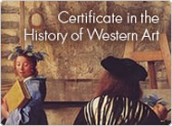 Certificate in the History of Western Art