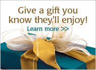 Enrich someones life with a Gift Certificate