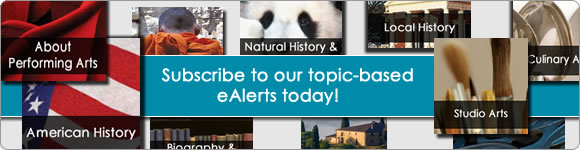 Subscribe to our topic-based eAlerts today!
